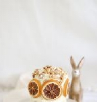 Easter mini carrot layer cake with cream cheese icing