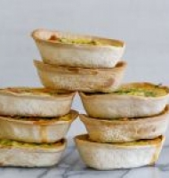 Mini zucchini & bacon quiches
