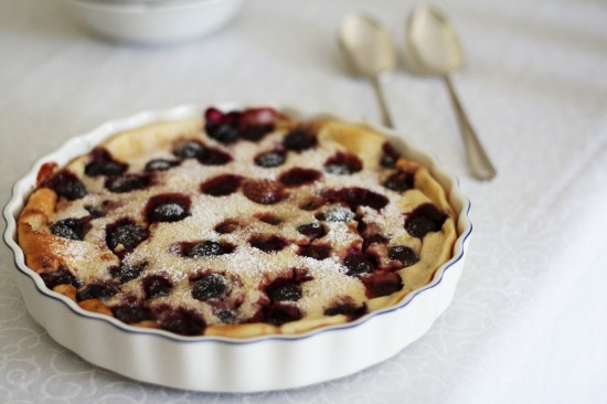 Cherry clafoutis | a splash of vanilla
