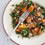 Sweet potato and brown rice salad