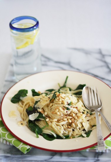 linguine with garlic and chilli