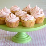 Breast cancer awareness month, October 2011 – lemon cupcakes with strawberry icing