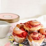 Strawberry rolls with vanilla bean glaze