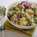 Creamy (mayonnaise free) potato salad