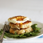 St Patrick's Day Irish potato cakes (boxty) with rocket and fried egg
