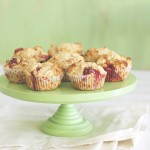 Wholemeal strawberry, yoghurt and white chocolate muffins
