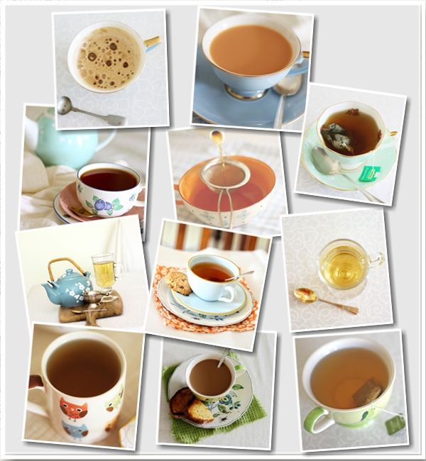 cups of tea collage
