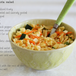 Crunchy vegetable pasta salad
