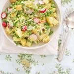 Spring pea and potato salad