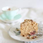 Chai spice strawberry crumb cake