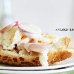 French inspired ham baguette