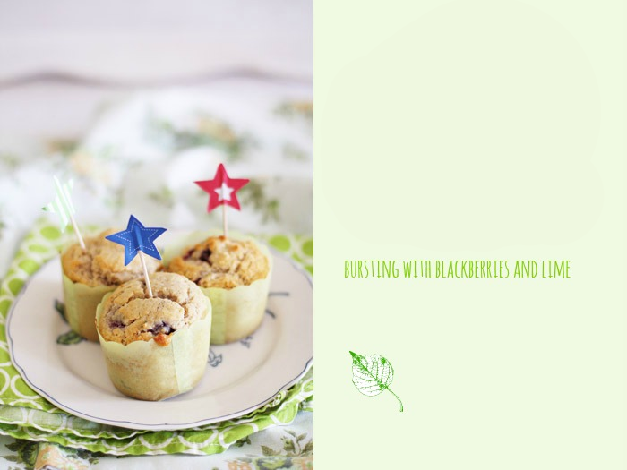 lime blackberry muffins