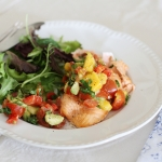 Atlantic salmon with summer mango salsa