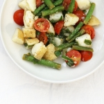 Potato, bean and tomato salad