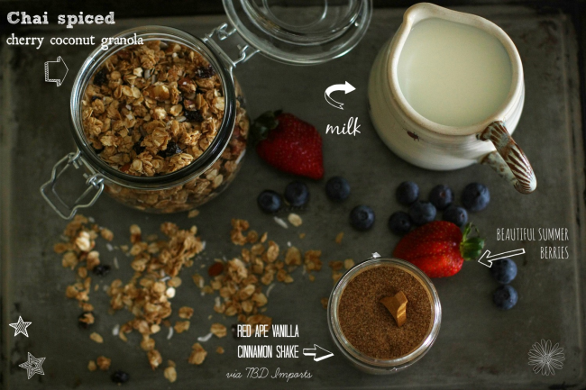chai granola breakfast