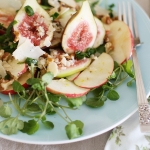 Fig, apple and watercress salad for one