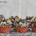 Lamington butterfly cakes with jam & cream for Australia Day (small batch)