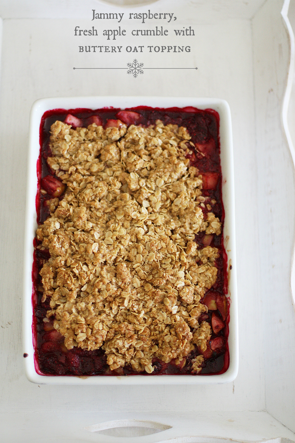 raspberry apple crumble