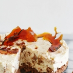 Easter baking: no bake Caramel Tim Tam cheesecake with toffee