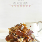 Chocolate & caramelised banana baked French toast