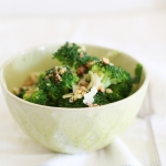 Broccoli with chilli, garlic, lemon & toasted walnuts