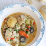 Slow cooked French chicken casserole