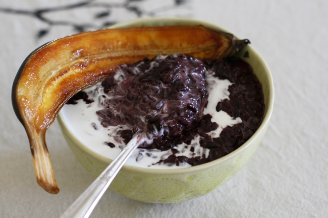 sticky black rice pudding