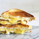Brown butter toasted cheese sandwiches
