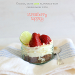 No bake lime strawberry cheesecake jars