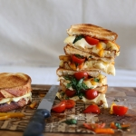 Bruschetta toasted cheese sarnie