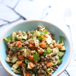 Lentil salad with toasted walnuts & feta