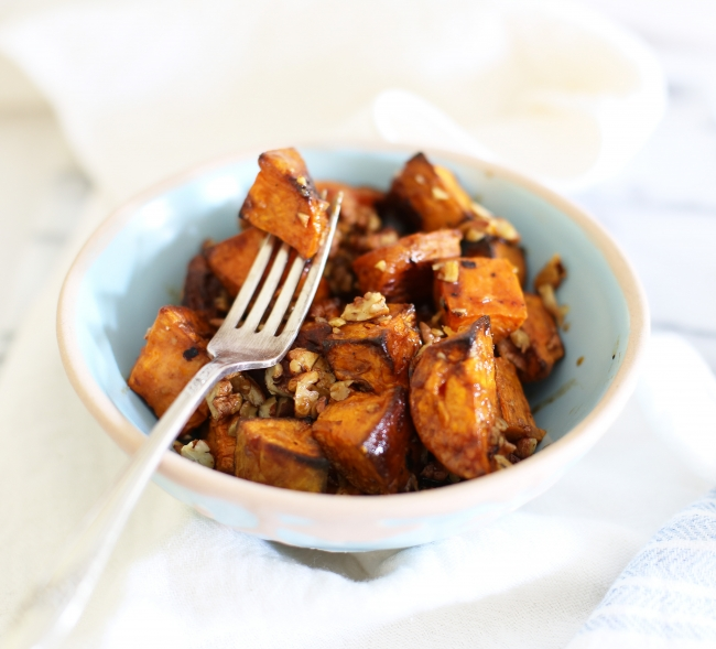 maple roast sweet potato