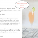 Cocktail Fridays: pretty in pink gin fizz
