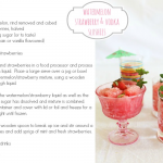 Cocktail Fridays: watermelon, strawberry & vodka slushies