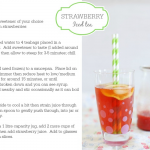 Cocktail Fridays: strawberry iced tea (non-alcoholic)