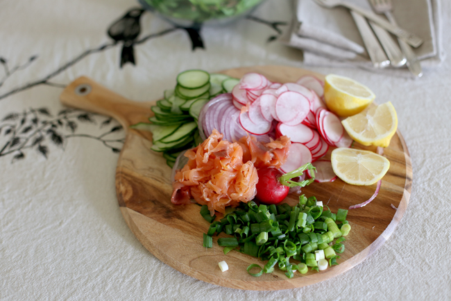 smoked salmon baby spinach salad for blog