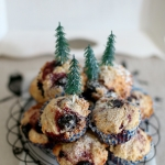 Cherry coconut muffins