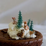 Woodland flourless chocolate cake