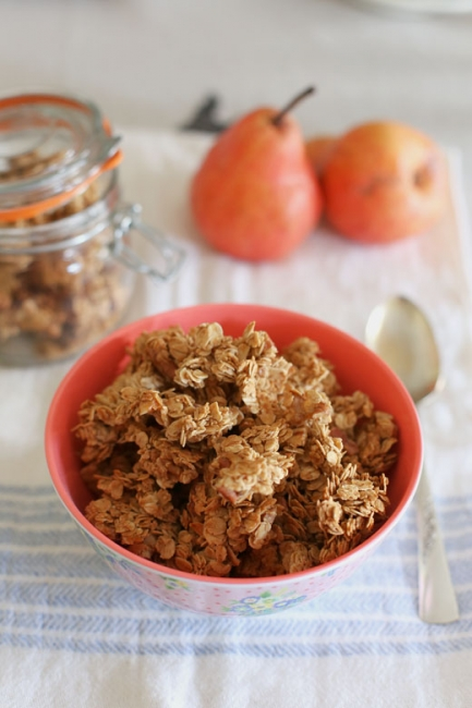 ginger spice granola l a splash of vanilla