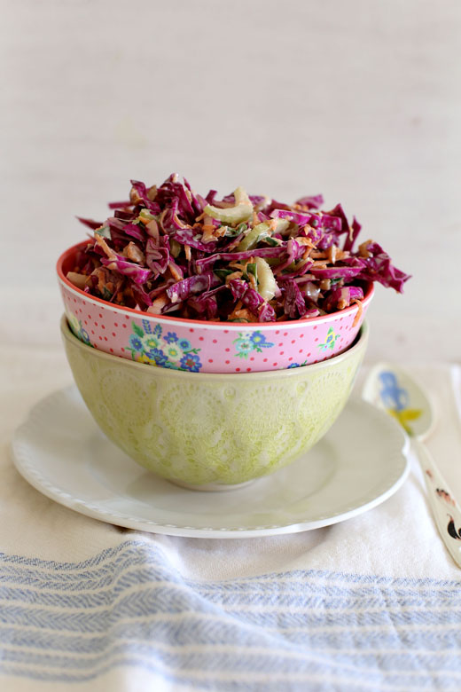 Nigella's New Orleans coleslaw l a splash of vanilla