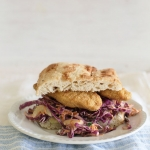 New Orleans red cabbage coleslaw