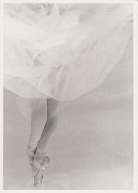 ballet dancer postcard