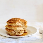 Orange ricotta hotcakes with orange honey syrup