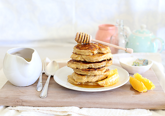 orange ricotta pancakes l a splash of vanilla