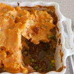 Spicy lentil & sweet potato cottage pie