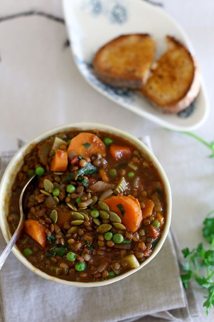 lentil soup l a splash of vanilla