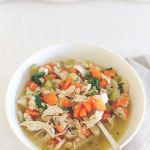 Chicken white bean soup with ginger & chilli