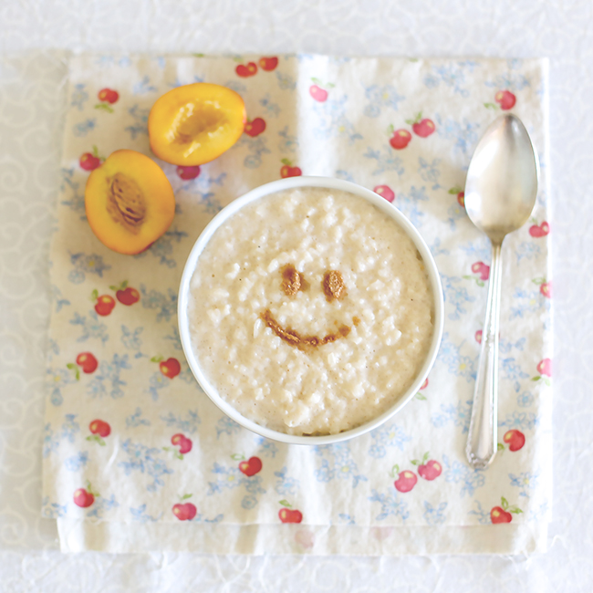 Rice pudding l a splash of vanilla
