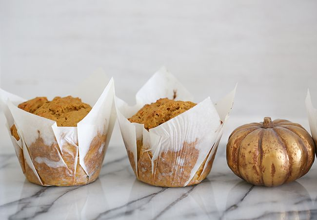 Spicy pumpkin muffins l a splash of vanilla