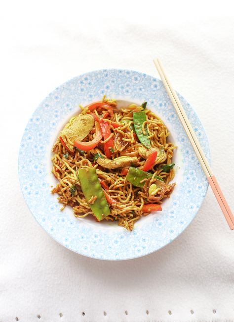 Singapore noodles l a splash of vanilla